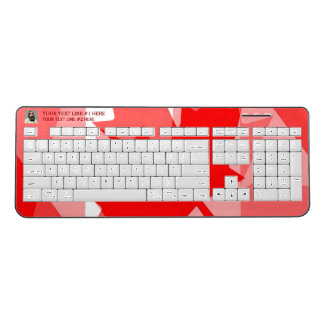 Canadian Spirit Keys Your Photo and text on a Wireless Keyboard