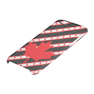 Canadian stripes flag clear iPhone 6/6S case