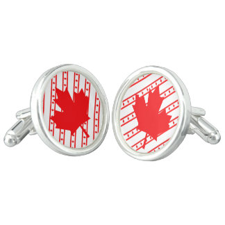 Canadian stripes flag cuff links