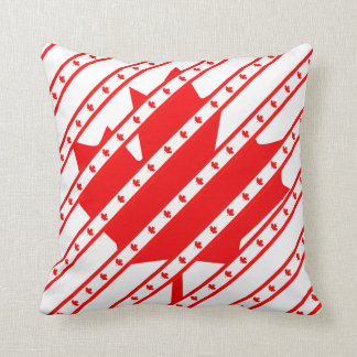Canadian stripes flag cushion