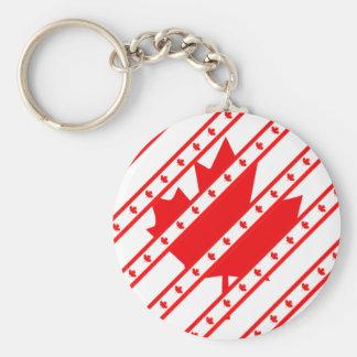 Canadian stripes flag key ring