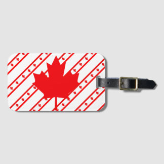 Canadian stripes flag luggage tag