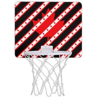 Canadian stripes flag mini basketball hoop