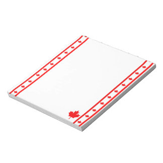 Canadian stripes flag notepad