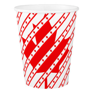 Canadian stripes flag paper cup