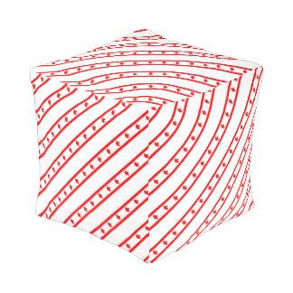Canadian stripes flag pouf