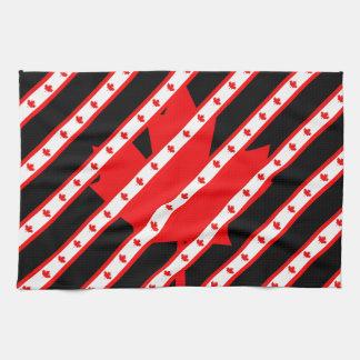 Canadian stripes flag tea towel