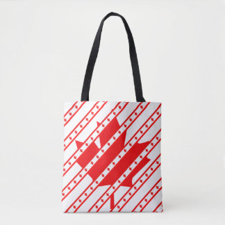 Canadian stripes flag tote bag