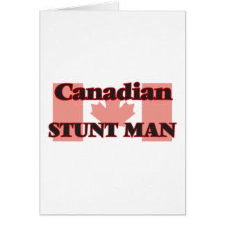 Canadian Stunt Man Greeting Card