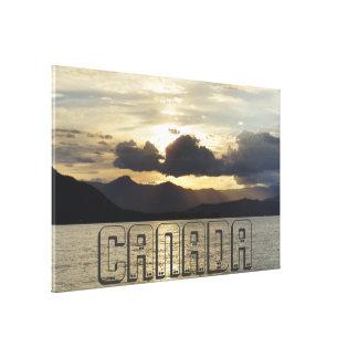 Canadian Sunset Canvas Print