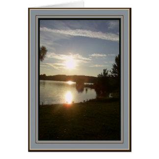 Canadian Sunset - Goodbye Card