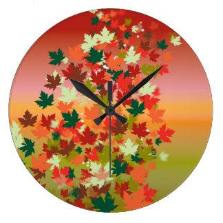Canadian Sunset Large Clock