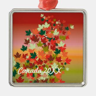 Canadian Sunset Metal Ornament