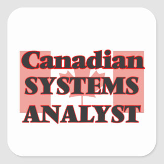Canadian Systems Analyst Square Sticker