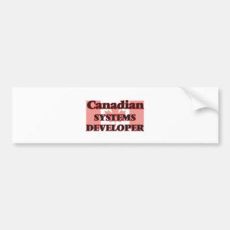 Canadian Systems Developer Bumper Sticker
