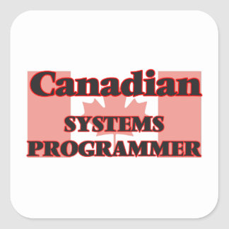 Canadian Systems Programmer Square Sticker
