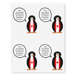 Canadian Talking Penguin Flag