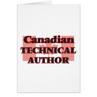 Canadian Technical Author Greeting Card