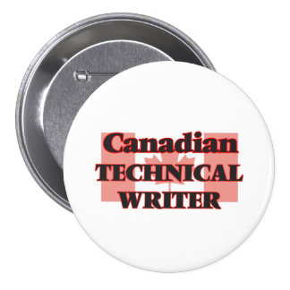 Canadian Technical Writer 7.5 Cm Round Badge