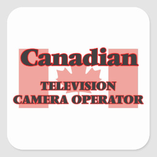Canadian Television Camera Operator Square Sticker