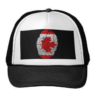 Canadian touch fingerprint flag cap