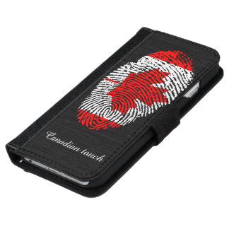 Canadian touch fingerprint flag iPhone 6 wallet case