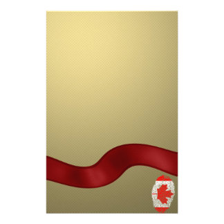 Canadian touch fingerprint flag personalised stationery