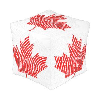 Canadian touch fingerprint flag pouf