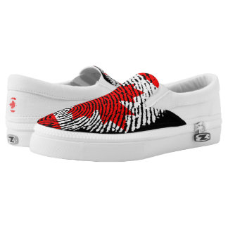 Canadian touch fingerprint flag Slip-On shoes