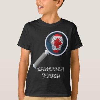 Canadian touch fingerprint flag T-Shirt