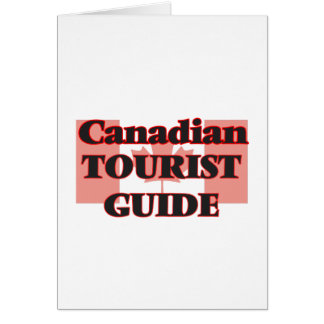 Canadian Tourist Guide Greeting Card