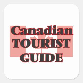 Canadian Tourist Guide Square Sticker