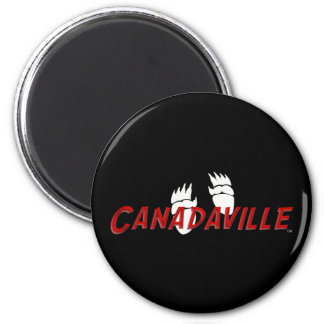 Canadian Tracks 6 Cm Round Magnet