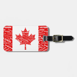 Canadian Veteran Luggage Tag