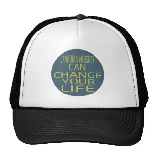 Canadian Whiskey Can Change Your Life Mesh Hat