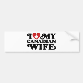 Canadian Wife Bumper Stickers
