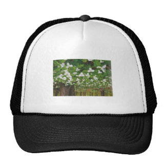 CANADIAN Wild WHITE Flowers - Lowprice GIFTS Mesh Hats