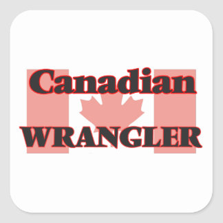 Canadian Wrangler Square Sticker