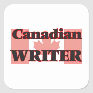 Canadian Writer Square Sticker