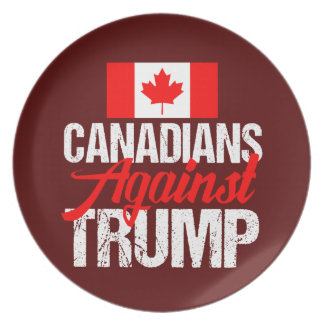 Canadians Against Donald Trump Plate