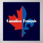 Canadien Francais Poster