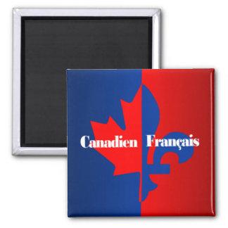 Canadien Francais Square Magnet