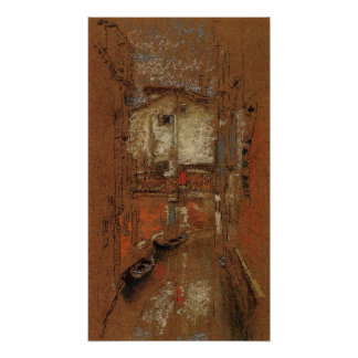 Canal at San Cassiano by Whistler Poster