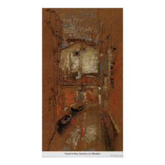 Canal at San Cassiano by Whistler Posters