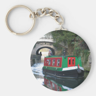 Canal boat Key ring Basic Round Button Key Ring