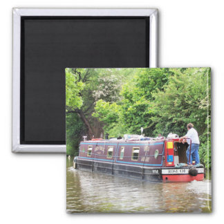 CANAL BOATS SQUARE MAGNET