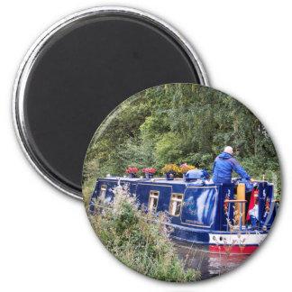 CANAL BOATS UK FRIDGE MAGNET