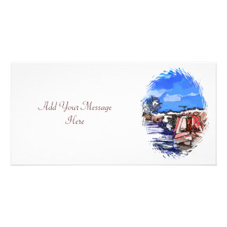 CANAL BOATS UK PICTURE CARD