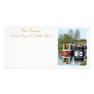 CANAL BOATS UK CUSTOMIZED PHOTO CARD