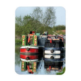 CANAL BOATS UK RECTANGULAR MAGNET